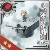 6inch Twin Rapid Fire Gun Mount Mk.XXI