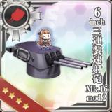 6inch Triple Rapid Fire Gun Mount Mk.16 mod.2