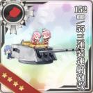 152mm/55 Triple Rapid Fire Gun Mount Kai