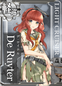 De Ruyter Damaged Card