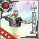 6inch Triple Rapid Fire Gun Mount Mk.16