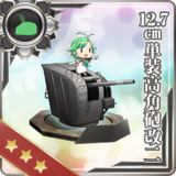 12.7cm Single High-angle Gun Mount Kai 2