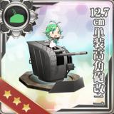 12.7cm Single High-angle Gun Mount Kai 2