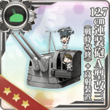 12.7cm Twin Gun Mount Model A Kai 3 (Wartime Modification) + Anti-Aircraft Fire Director