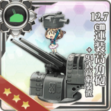 12.7cm High-angle Gun + Anti-Aircraft Fire Director