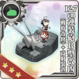 12.7cm Twin Gun Mount Model B Kai 4 (Wartime Modification) + Anti-Aircraft Fire Director