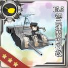 15.5cm Triple Secondary Gun Mount Kai