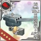 16inch Mk.I Triple Gun Mount + AFCT Kai