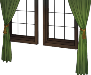 Window with green curtain.png