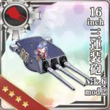 16inch Triple Gun Mount Mk.6 mod.2
