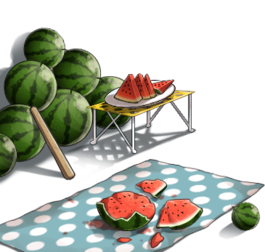 Watermelon splitting set.png
