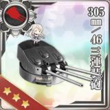 305mm/46 Triple Gun Mount