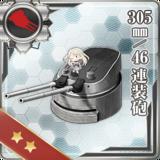 305mm/46 Twin Gun Mount