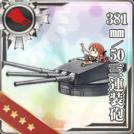 381mm/50 Triple Gun Mount