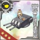 OTO 152mm Triple Rapid Fire Gun Mount