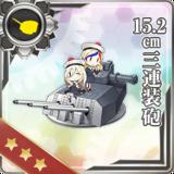 15.2cm Triple Gun Mount