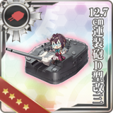 12.7cm Twin Gun Mount Model D Kai 3